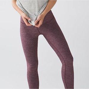 Lululemon High Times Pant size 8 Maroon Leggings